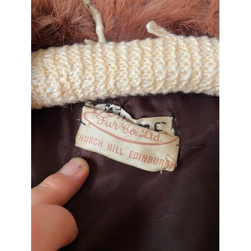 6 - Two vintage fur ladies coats