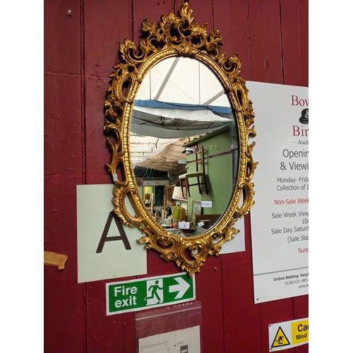 2 - Large ornate gold mirror