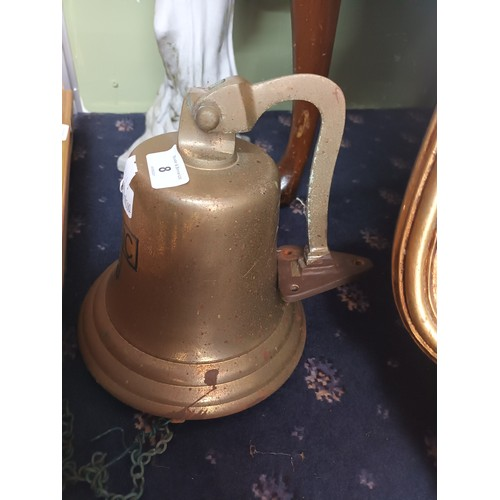 8 - Large ships bell marked 'Titanic 1912'