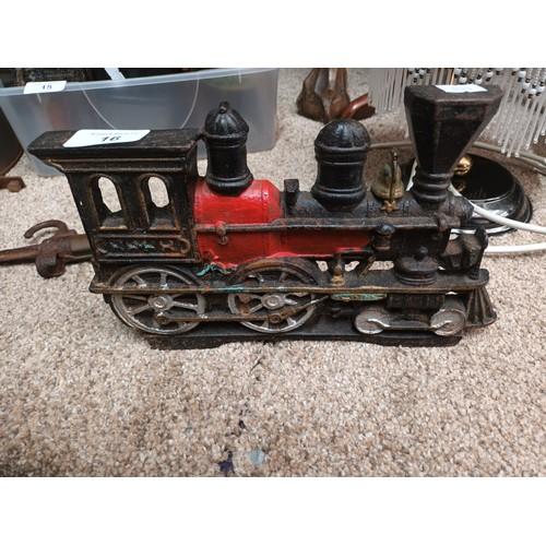 16 - Cast Iron train door stop