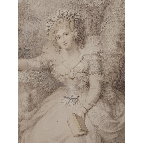 22 - An 18th century engraving titled 'Mrs Fitzherbert' London, Published 1792.