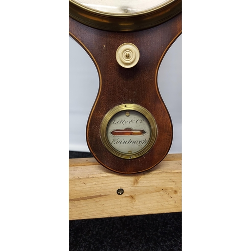 25 - A 19th century Lily & Co Edinburgh wall barometer. [96cm in length]
