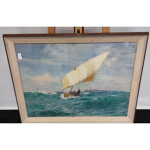 4 - JOHN FRASER (British, 1858-1927) Original watercolour titled 'Point De Galle' French Pacific. Dated ...