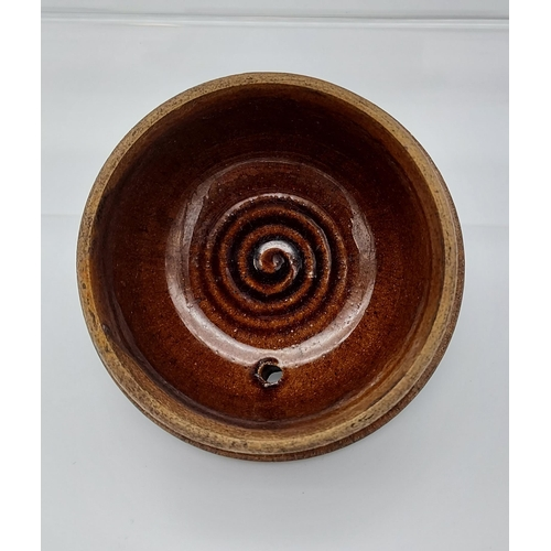 8 - A Scottish brown glaze tea pot. [19cm in height]