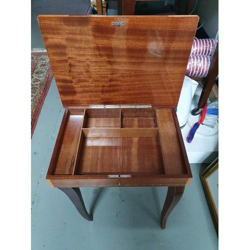 3A - Inlaid Musical Sewing Box