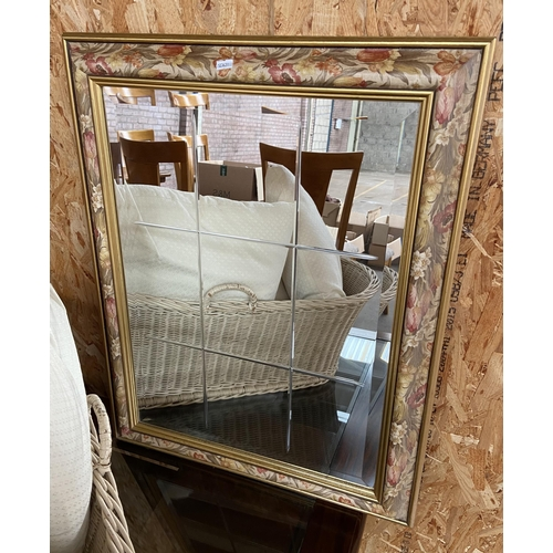 5 - A Vintage Bevel glass section mirror