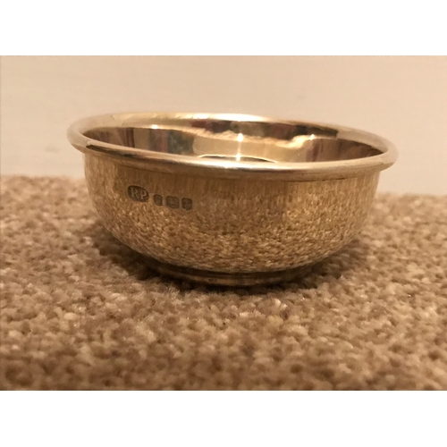 10 - Silver hall marked bowl dated 1972....