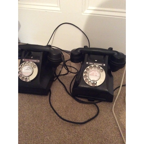 30a - 2 Vintage GPO Black Telephones in good conditions....