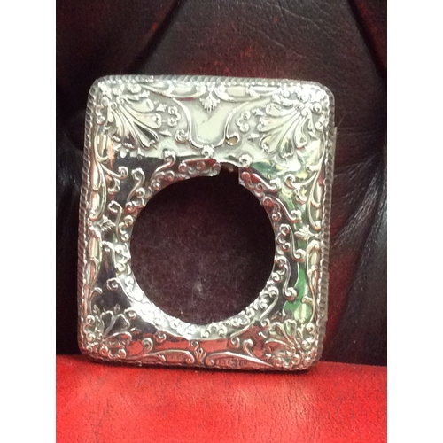 10A - Birmingham silver pocket watch holder....
