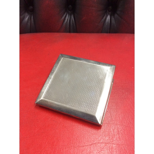 10B - Silver hall marked Birmingham card case makers w.k ltd....