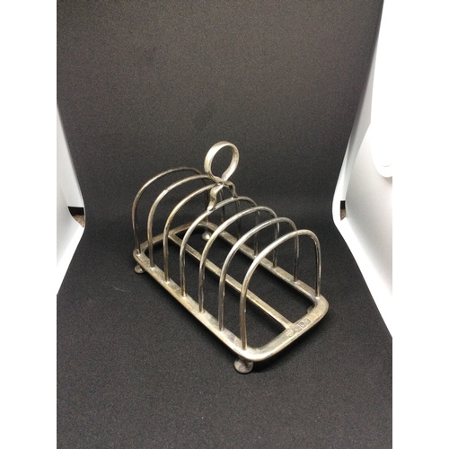 6 - Silver Hall marked London Heavy Toast rack markers  c&s co limited....