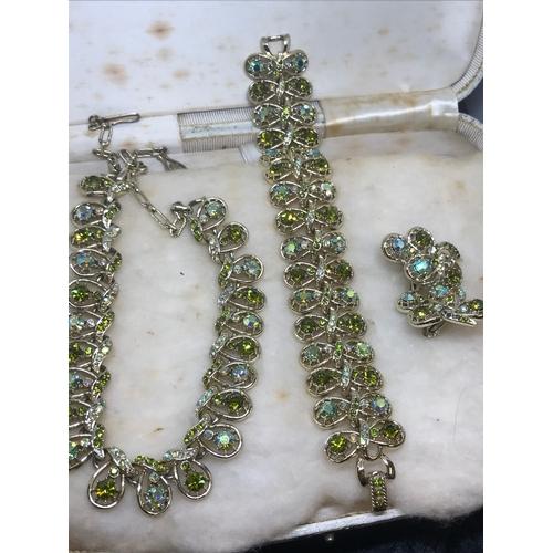 10b - A jewel craft creation diamonte statement set....
