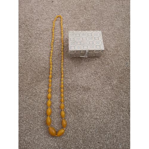 2 - Set of butterscotch Amber beads....