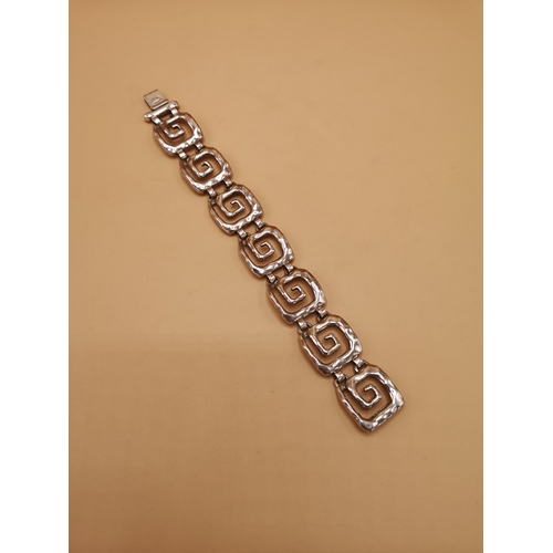 39 - Silver 925 bracelet in deco design....