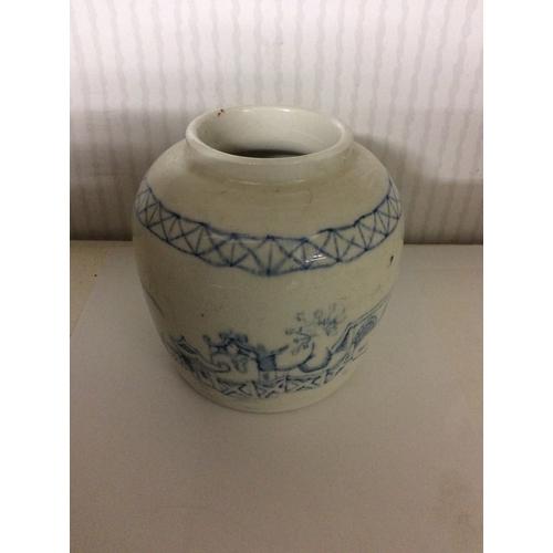 58 - Chinese blue white vase....