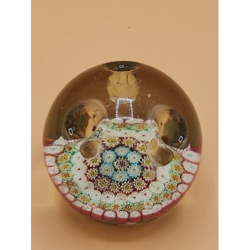 31 - Early 1900s Scottish glass paperweight / pen holder....