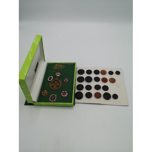 35 - Collection of vintage gpo badges and buttons....