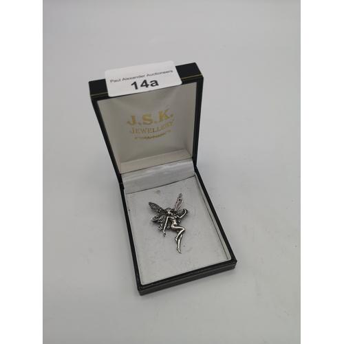 14a - Silver fairy brooch....