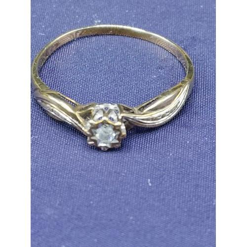 3a - 2 9ct gold diamond rings. 2.75 grams.....