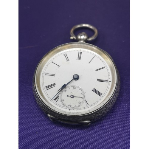 20 - 2 ladies silver pocket watches....