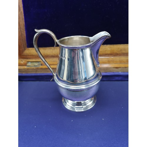 28 - Silver Hall marked birmingham unusual cream jug makers Rattray and Co Dundee. 148 grams. 3. 5 inches...