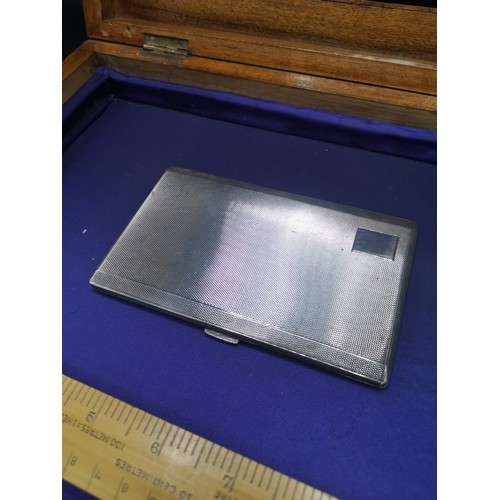 35 - Large silver Hall marked birmingham card case  221 grams in weight. Maker Frederick Field subsequent...