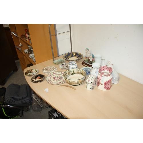 14 - Assorted Pottery including Doulton Bowl, Masons Jug, Poole, etc...