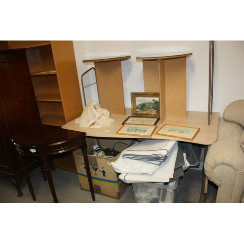 15 - Lightwood Contour-Front Desk with Attachable Over-Shelf...