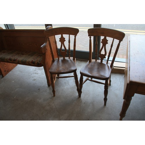12 - Two Elm Kitchen Chairs....