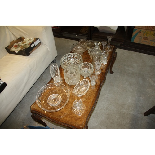3 - Large Quantity of Cut Glassware including Vases, Candlesticks, Fruit/Sweet Bowls, etc...