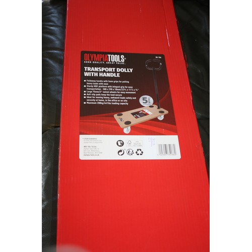 62 - Brand New (in Box) Transport Dolly with Handle (Olympia Tools) for Weights up to 200kg - measures 58...