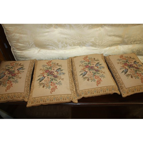 44 - Set of Four Tapestry Design Cushions...
