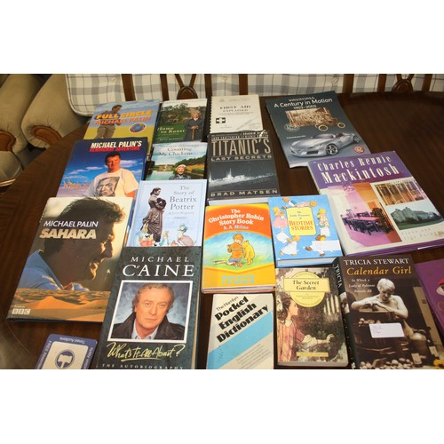 46 - Quantity of approx 17 Mostly Hardback, Mostly Fiction Books including Michael Palin, Michael Caine, ...