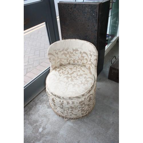 61 - Sherborne Dressing Stool - Cream Upholstery...