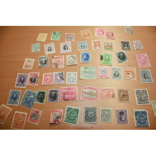 1 - Twelve Honduras late 19th/early 20th Postage Stamps and Five Peruvian 19th Century Stamps, Five Para...