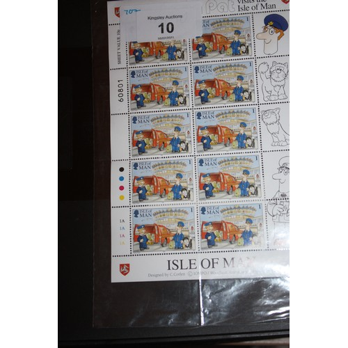 5 - Mint Isle of Man Postman Pat Miniature Sheet -Twelve First Class Stamps...