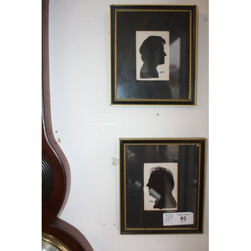 22 - Two Framed and Mounted Silhouettes...