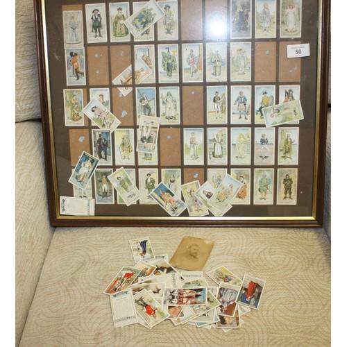 24 - Framed Set of Cigarette Cards (needs attn)...