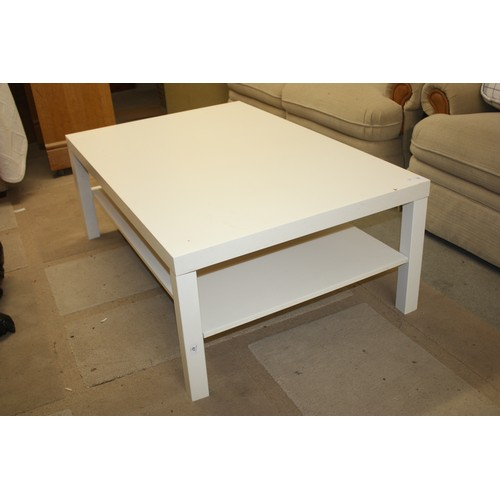31 - IKEA White Coffee Table with Undershelf in the LATK Design...