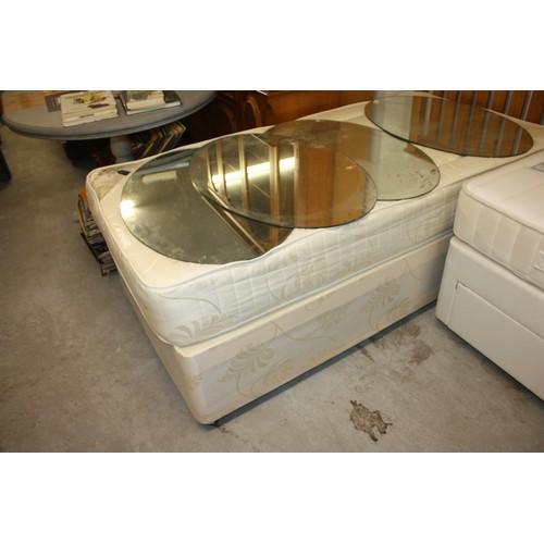 37 - Single  Divan Bed with a Deep-Sleep Topaz Plus Pine Headboard...