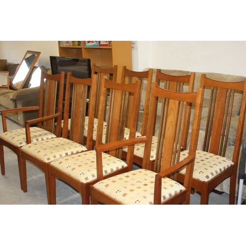 49 - Six US Made Stickley Arts and Crafts Style Dining Chairs Plus Two Matching Carvers...