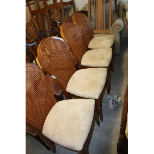56 - Three Piece Bergere Lounge/Salon Suite comprising Sofa, Two Armchairs