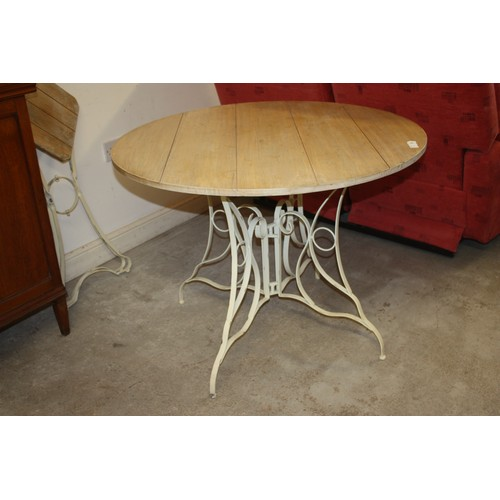 65 - Circular Outdoor Table with Metal Frame (39