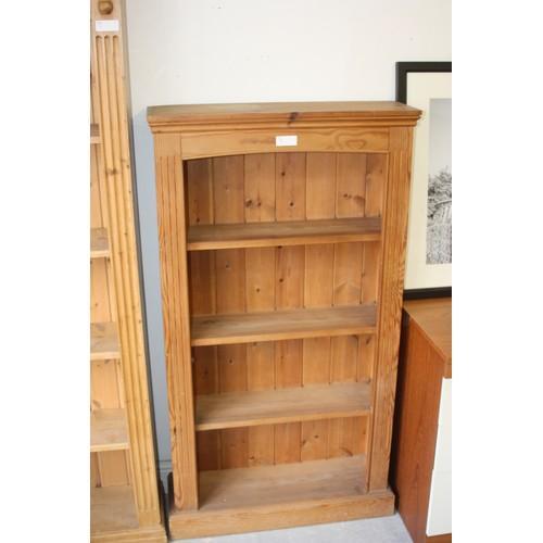 23 - Small Four Shelf Pine Bookcase - 27.5