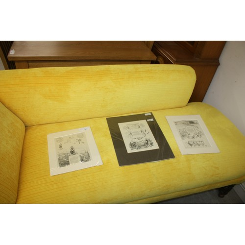 6 - Mounted Illustrated Lithographic Prints - Lancashire, Rutland and Derbyshire