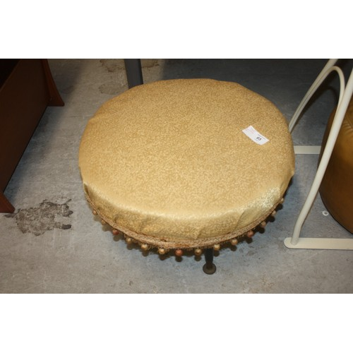 11 - An Upholstered Circular Stool on Sputnik Legs