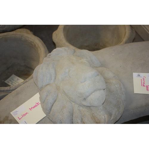 15 - Cast Concrete Lion Mask