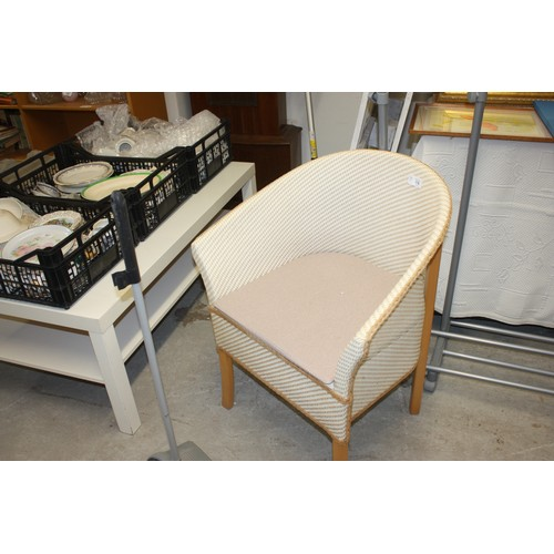 34 - Commode Chair in a Lloyd Loom Style (Clean - Unused)