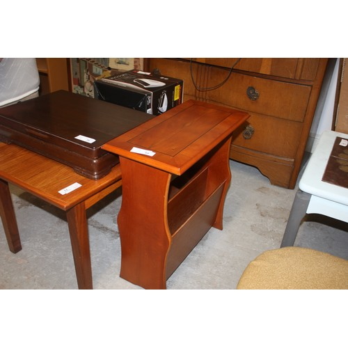 47 - Yew Wood Magazine Table with Ebony Inlay
