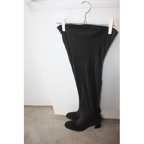 55 - Two Pairs of New Ladies' Boots: One Over-Knee Designer 'Roberto Vianni' and One 'Next'
